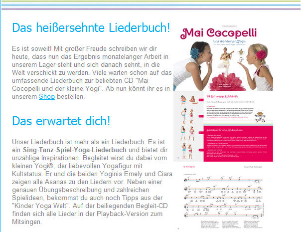 Mai cocopelli Newsletter