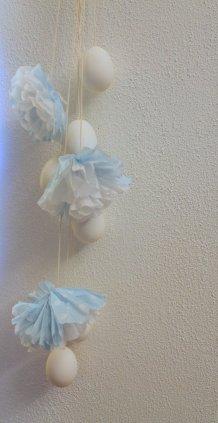 meine Eier-Pompon- Deko