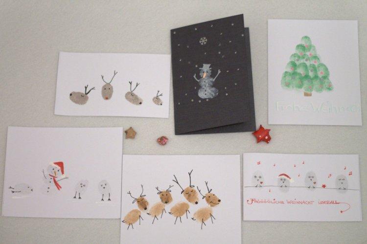 Weihnachtskarten Mit Fingerabdruck.2 Dezember Pünktchen