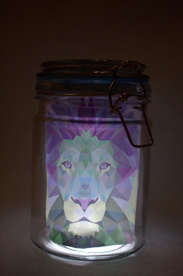 Löwe im Glas