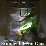 Stundenbild im Glas