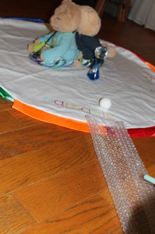 Kinderyoga Atemspiel Tischtennisball